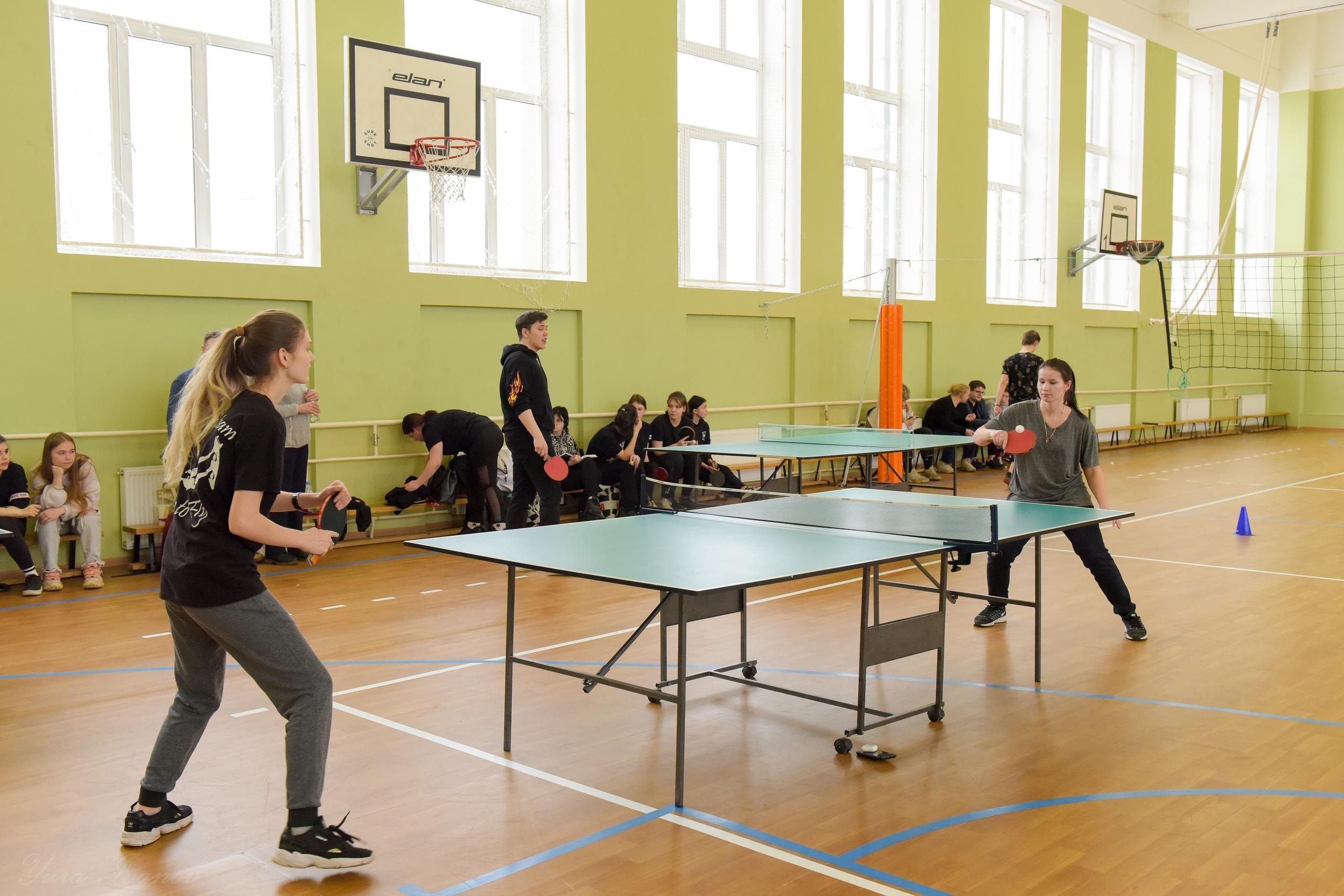 Матчевая встреча по настольному теннису